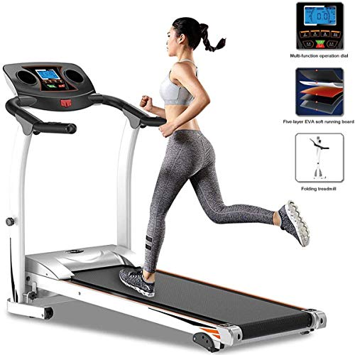 Loopband Opvouwbaar Verstelbare Helling Fitness Exercise Running Machines voor Home Gym, 1.5HP Indoor Fitness Ultra-Quiet modellen Running Machine met Tablet Flessen Holder