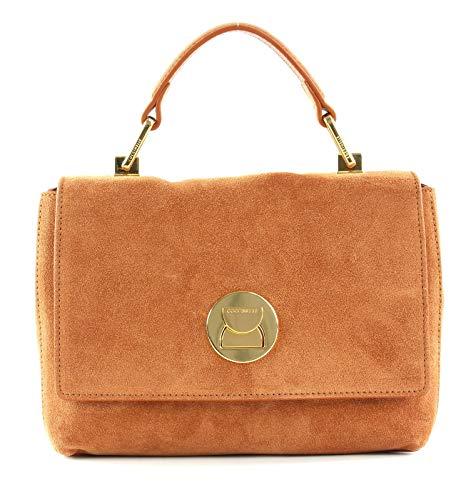 Coccinelle Liya Suede Small Handbag Tan