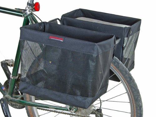 Bushwhacker Omaha - Bicycle Grocery Pannier Cycling Rack Basket Bike Rear Bag Rear Accessories - Sold as Pair