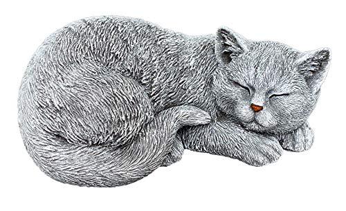 stoneandstyle Steinfigur Katze Betty schlafend frostfest wetterfest Gartenfigur