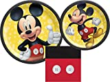 Mickey Mouse Party Supplies Bundle with Luncheon Plates, Dessert Plates and Napkins for 8 Guests