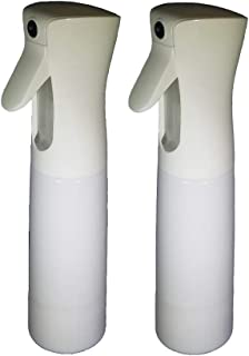 Johnson Mercantile Two Pack - Gravity Sprayer White 10 oz - Refillable Spray Bottle 300 ml - Non Aerosol Pressurized Continuous Fine Mist - Great for Plants…