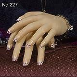 YZLIIN UñAs Postizas Moda 24Pcs / Set Square Cute Bride False Nails 61 Style French Tips Art Design Fake Nail Tips Full Cover Nail
