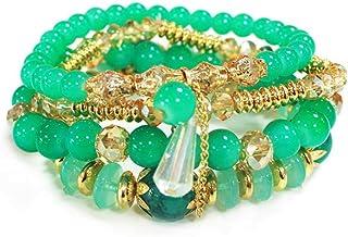 Women Bracelet Bohemian Hand String Ocean Multilayer Circle Beaded Crystal