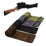 Gun Socks, 4pcs Silicone Treated Gun Socks, 48 × 5 in Knit Gun Socks, Flexible Design Knit Gun Hunting and Shooting Holder Socks for Rifles, Scopes, Pistol Grips & Tactical Accessories