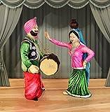 TIED RIBBONS Punjabi Couple Bhangra Dancing Resin Showpiece (26 cm x 13 cm x 10 cm) cm