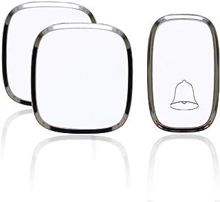 Mopoq Wireless Doorbell, Plug Kit, Weatherproof Wireless Doorbell, 4 Volume Levels, 984.3 Ft Range, LED Lights