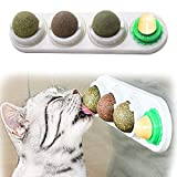 RBNANA Catnip Balls Toy for Cats, Catnip Edible Balls Natural Rotatable Licking Treats Toys for Cats Kitten Kitty