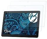 Bruni Schutzfolie kompatibel mit Lenovo Smart Tab P10 Folie, glasklare Bildschirmschutzfolie (2X)