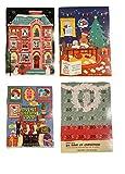 Trader Joe's Christmas Milk Chocolate Advent Calendar Bundle of 4 Seasonal Holiday Designs for Kids/Adult Gifts