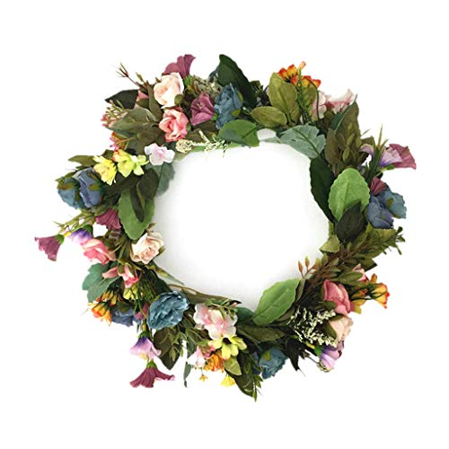 SBDLXY Flower,Artificial Fall Wreath, Christmas Wreath with Pumpkin Maple Leaves and Red Berry Ideal for Autumn & Halloween & Thanksgiving Day, Indoor Outdoor Decor