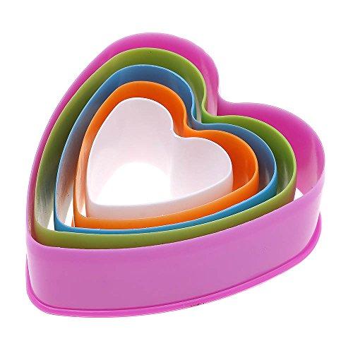 ?1jeu plastique Biscuit moulage moule gâteau cuisson outil coeur couleur aléatoire