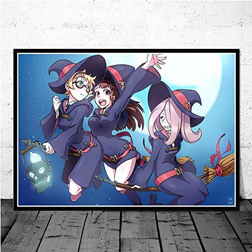 Puzzle 1000 Piezas Decora la Imagen de Anime de la Escuela de Brujas Puzzle 1000 Piezas Educativo Divertido Juego Familiar para niños adultos50x75cm(20x30inch)