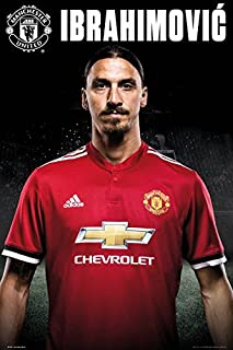 Manchester United - Sports/Soccer Poster/Print (Zlatan Ibrahimovic - 2017/2018) (Size: 24 inches x 36 inches)