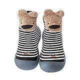 YWLINK Calzado Casual Infantil Zapatos De Goma Antideslizantes Calcetines De Punto Zapatos De Casa OtoñO Nuevas Botas Desnudas Zapatos para BebéS Y NiñOs Zapatos De Primer Paso (Negro, Numeric_20)
