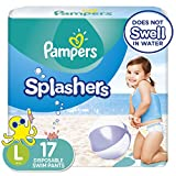 Swim Diapers Size 5 (> 31 lb), 17 Count - Pampers Splashers Disposable Swim Pants, Large, Pack of 2