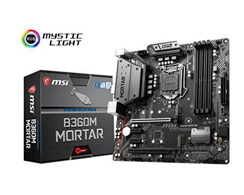 MSI Arsenal Gaming Intel Coffee Lake B360 LGA 1151 DDR4 Onboard Graphics CFX Micro ATX Motherboard (B360M Mortar)
