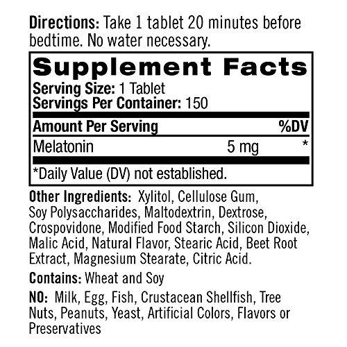 Natrol Melatonin Fast-Dissolve Tablets