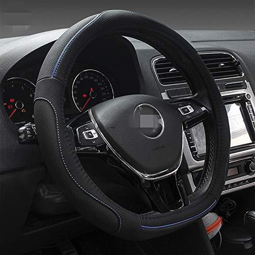 HONCENMAX D Typ Fahrzeug Lenkradabdeckung Auto Lenkradschutz D-Form Durchmesser 38cm (15