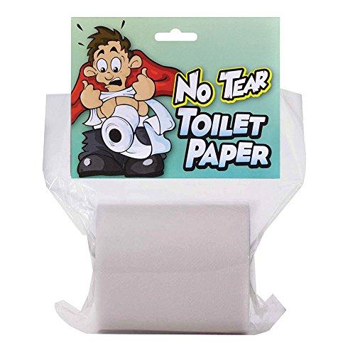 Bristol Novelty GJ414 Nicht-zerreißbares Toilettenpapier Accessoire, Weiß, Unisex– Erwachsene, Einheitsgröße