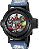 Marvel Boys' Analog-Quartz Watch with Plastic Strap, Blue, 24 (Model: AVG3516)