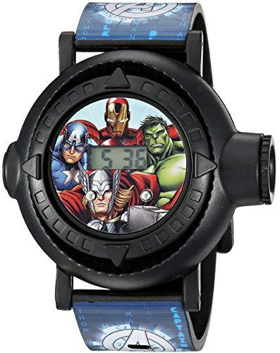 Marvel Boys' Analog-Quartz Watch with Plastic Strap, Blue, 24 (Model: AVG3516)
