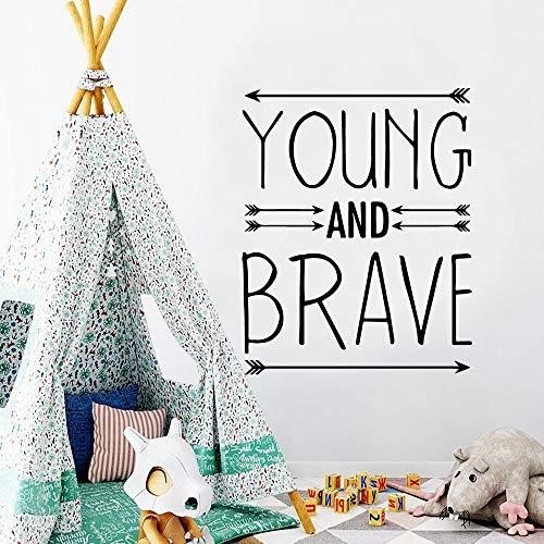 Yaonuli Muurstickers Jongen en moedig, afneembaar, muurstickers voor kinderkamer