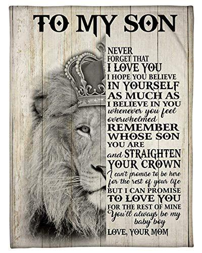 445 Eeypy to My Son Never Forget I Love You Be Love from Mom - Cartel de metal para decoración de pared de hierro para amantes de la familia, regalo para el hogar, decoración de pared, 20 x 30 cm