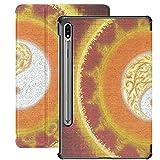 Vintage Orange Tai Chi Bagua Yin Yang Galaxy Tab S7 Plus Book Cover per Samsung Galaxy Tab S7 / s7 Plus Samsung Galaxy S7 Plus Custodia Cover posteriore Custodia Samsung Tab E
