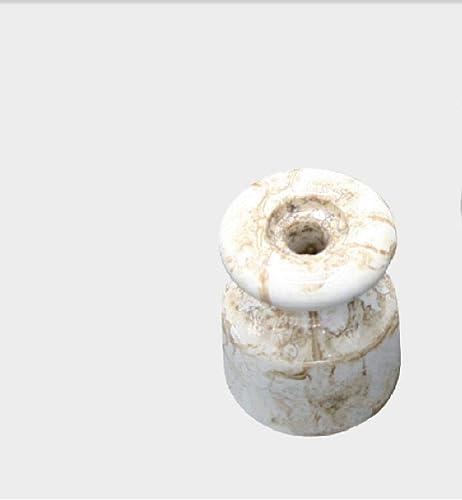 Lampo Offerta 20 ISOLATORI in Ceramica MARMORIZZATI D.16