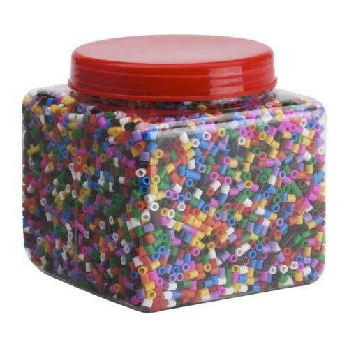 Generisch IKEA PYSSLA Bügelperlen ca. 14.000 Perlen Zubehör Steckplatten (Perlen vers. Farben)