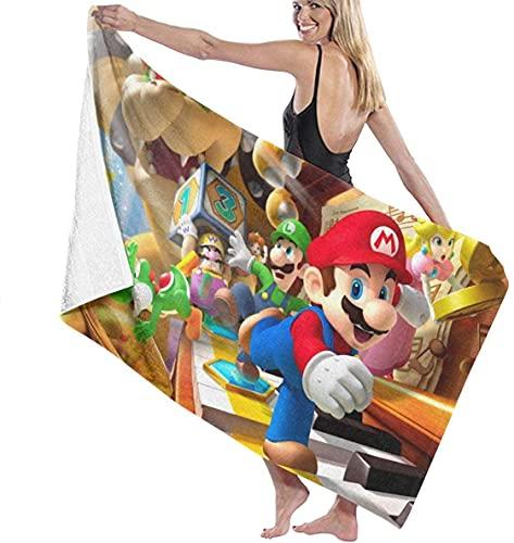 Toalla de playa Luigi Super Mario, suave y esponjosa, aspecto elegante, muy adecuada para la playa (Mario-3, 100 cm x 200 cm)