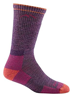 Darn Tough Cushion Boot Socks - Women's Plum Heather Large