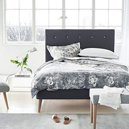 Designers Guild - Damasco Housse de couette Satin de Coton Graphite 140 x 200 cm