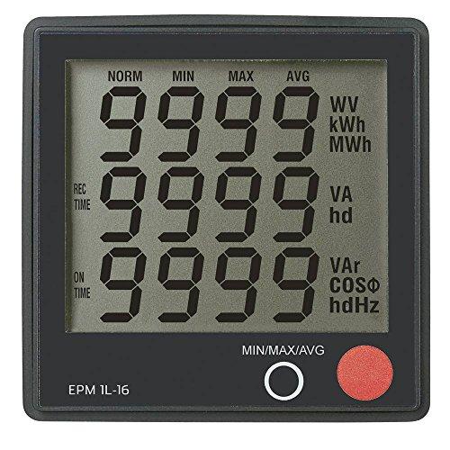 Digitales Einbaumessgerät VOLTCRAFT EPM 1L-16 Spannung: 190-250 V/AC, Strom: 0-16 A, Cos-Phi: 0-1,00, Leistung: 0