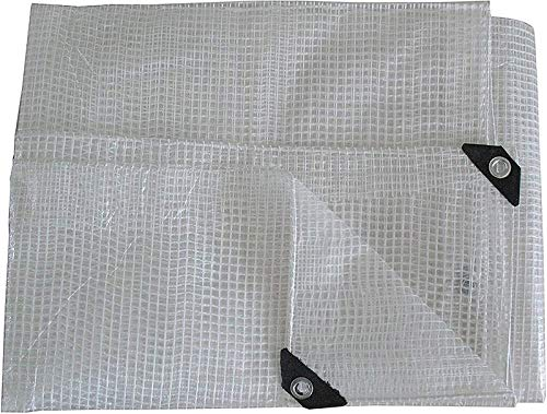 KANGSHENG Lona Impermeable Reforzada con Lona Lona Resistente - Hoja de Lona Transparente - Cubierta Hecha de Malla de Refuerzo de 100 Gramos/cm (tamaño: 4 * 4 m)