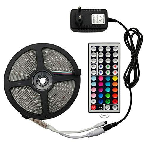 Male god Luz LED De 5M 10M Con Luz LED Flexible RGB 5050 DC12V LED Con Diodo De Tira De LED Impermeable, Con Adaptador + Control Remoto (Color : Waterproof)