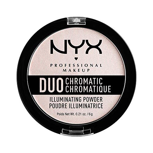 NYX Professional Makeup Polvere Illuminante Duo Chromatic Illuminating Powder, Snow Rose