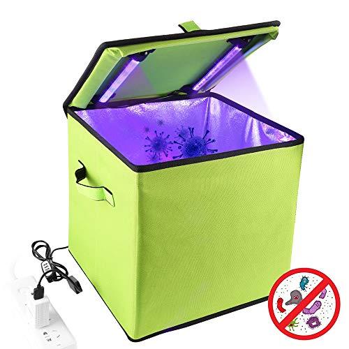 UV-licht Sanitizer Box, draagbare auto-organizer koffer met 19 LED ultraviolette desinfectielamp voor babyfles/tandenborstel/schoonheidshulpmiddelen/sieraden/ondergoed sterilisatie,Green