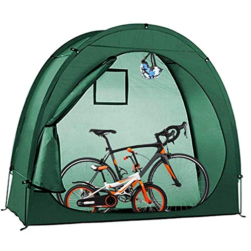GaoYunQin Bike Storage Shed, Bicycle Cover Tent with Window Design Rain and Dust Resistant UV Protection for Outdoors Camping Green 78.7x34.6x65in