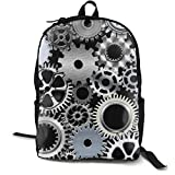 Casual Mechanical Engineering Gear Backpack Daypack Lightweight Laptop Sackpack One Size for Student & Outdoor Polyester Fabric Durable Strong