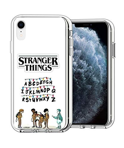 Transparent Soft TPU Protective Cover Case Pure Clear Case Compatible for iPhone XR Stranger Alphabet Lights Things