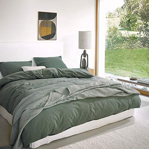 Marc O Polo Bettwäsche Senja Green 1 Bettbezug 135x200 cm + 1 Kissenbezug 80x80 cm