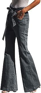 Ladies Pants Sale,KIKOY Women Loose Denim Bow Casual Boot Cut Pant Jeans