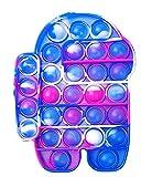 Fidget Toy Juguete Antiestres - Pop It Sensorial Among Us para Niños y Adultos Bubble Push -Juguetes Antiestrés de Explotar Burbujas para Aliviar estrés y Ansiedad Lila