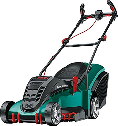Bosch 06008A4575 Rotak 430 LI Cordless Lawnmower with Two 36 V Lithium-Ion Batteries (2 Batteries, 50 Litre Grassbox, Charger, 36 V, Green, Cutting Width/Height: 43 cm/20-70 mm)