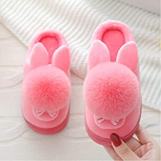 LJLLINGA Zapatillas de Invierno para niños, Zapatillas de casa de algodón de Dibujos Animados para niños,Zapatos cálido...