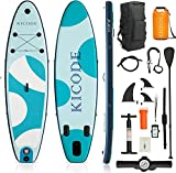 ephex Stand Up Paddle Board 305x76x15cm Premium Inflatable SUP Paddleboards Accessories & 10L Waterproof Bag, Bag, Fins, Non-Slip Deck, Leash, Paddle, and Pump, Waterproof Phone Pouch - Best Reviews Guide