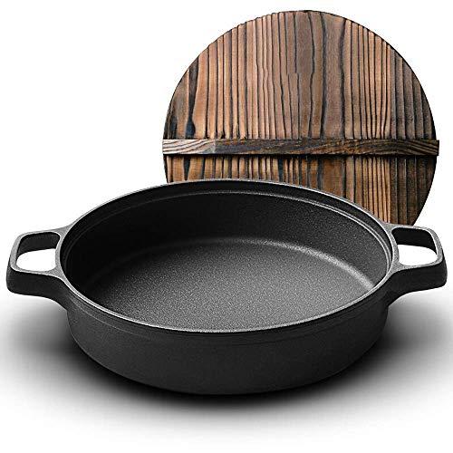 Effizient Kochen Anti-Rutsch-Fest-Topf Küchenutensilien verdickte Gusseisen Bratpfanne Chinesisch Binaural Bratpfanne 26cm Steak Bratpfanne Cooker Universeller crepepfanne RVTYR