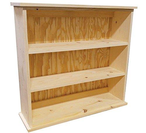 Concepts In Wood 9 Shelf Triple Wide Wood Bookcase, 36 inch Tall (Oak)
